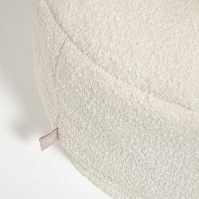 Adara - Pouf shearling bianco